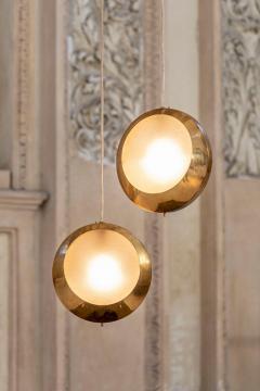 Stilnovo Brass and Glass Pendant by Stilnovo - 1594029