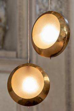Stilnovo Brass and Glass Pendant by Stilnovo - 1594032
