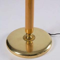 Stilnovo Italian Brass and Wood Floor Lamp - 764091
