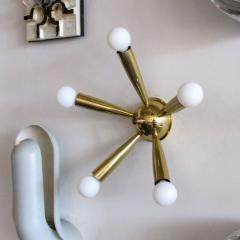 Stilnovo Italian Five Arm Brass Wall Light 1950 - 1174171