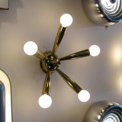 Stilnovo Italian Five Arm Brass Wall Light 1950 - 1174175