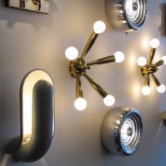 Stilnovo Italian Five Arm Brass Wall Light 1950 - 1174176