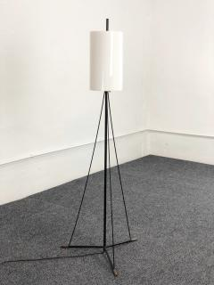 Stilnovo Italian Floor Lamp MidCentury Stilnovo Black and white and brass 1950 - 1339491