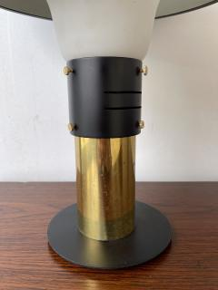 Stilnovo Lamp Lacquered Metal Brass and Opaline Glass Italy 1950s - 1920698