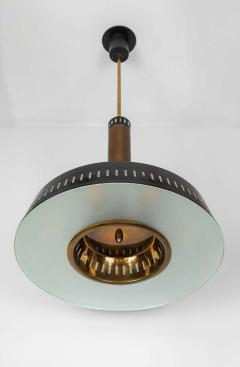 Stilnovo Large 1950s Stilnovo Model 1157 Brass and Glass Suspension Light - 1266072