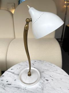 Stilnovo Mid Century Brass and Lacquered Metal Lamp by Stilnovo Italy 1950s - 2020160