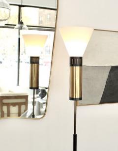 Stilnovo PAIR OF STILNOVO FLOOR LAMPS GLASS DIFFUSERS MARBLE BASE - 1933931