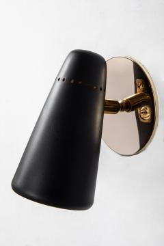 Stilnovo Pair of 1950s Stilnovo Sconces in Black Brass - 963081