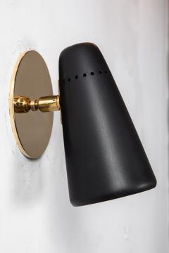 Stilnovo Pair of 1950s Stilnovo Sconces in Black Brass - 963084