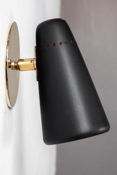 Stilnovo Pair of 1950s Stilnovo Sconces in Black Brass - 963085