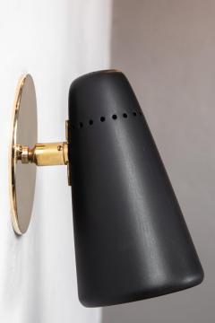 Stilnovo Pair of 1950s Stilnovo Sconces in Black Brass - 963086