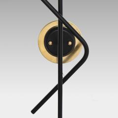Stilnovo Pair of Modernist Brass and Opaque Glass Sconces by Stilnovo - 2067757