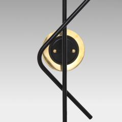 Stilnovo Pair of Modernist Brass and Opaque Glass Sconces by Stilnovo - 2067760