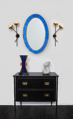Stilnovo Pair of Modernist Brass and Opaque Glass Sconces by Stilnovo - 2067763