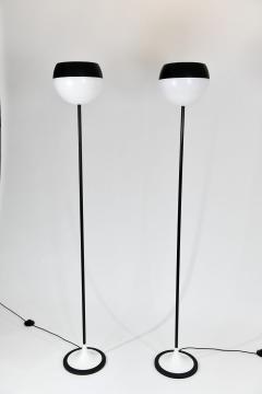 Stilnovo Pair of black white floor lamps - 1026274