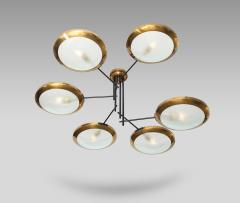 Stilnovo Rare 6 Arm Chandelier by Stilnovo - 1457714