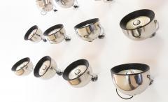 Stilnovo Set of 12 wall lamps by Gae Aulenti and Livio Castiglioni for Stilnovo 1970s - 1388551