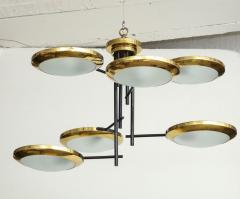 Stilnovo Six arm brass hanging fixture - 804582