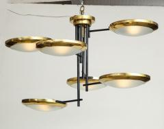 Stilnovo Six arm brass hanging fixture - 804596