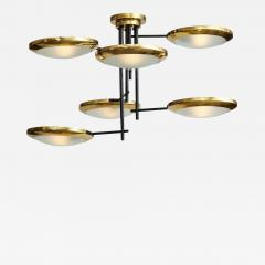 Stilnovo Six arm brass hanging fixture - 807065