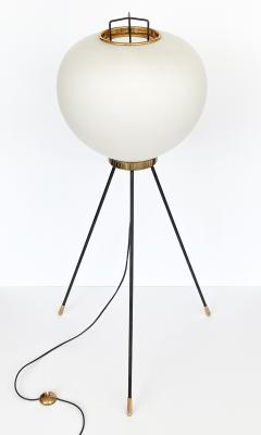 Stilnovo Stilnovo Brass and Opaline Glass Tripod Floor Lamp - 1392305