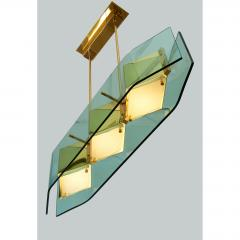 Stilnovo Stilnovo Chandelier with Diamond Cut Faceted Glass Lenses Italy ca 1960 - 986163