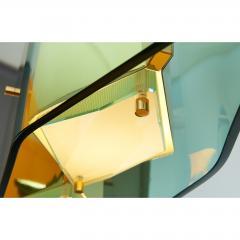 Stilnovo Stilnovo Chandelier with Diamond Cut Faceted Glass Lenses Italy ca 1960 - 986166