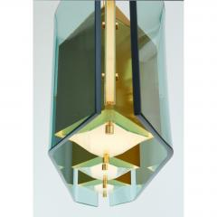 Stilnovo Stilnovo Chandelier with Diamond Cut Faceted Glass Lenses Italy ca 1960 - 986167
