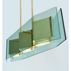 Stilnovo Stilnovo Chandelier with Diamond Cut Faceted Glass Lenses Italy ca 1960 - 986169