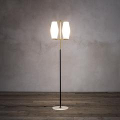 Stilnovo Stilnovo Floor Lamp with Diffusers in Opal Glass and Base in Marble - 2047746