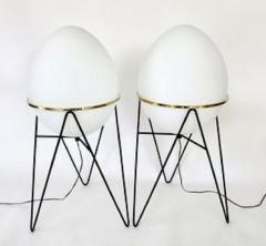 Stilnovo Stilnovo Italian Egg or Uovo Shaped Glass Floor Lamps - 477350