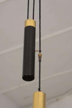 Stilnovo Stilnovo Pulley Light with Smokey Acrylic Shade - 1094506