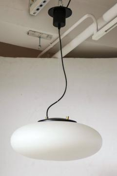 Stilnovo Stilnovo White Glass Suspension Light UFO Chandelier Italy c 1950 60 s - 1246526