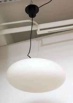 Stilnovo Stilnovo White Glass Suspension Light UFO Chandelier Italy c 1950 60 s - 1246533