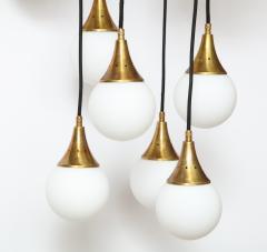 Stilnovo Stilnovo cascading chandelier with twelve opaline glass ball lights - 1023186