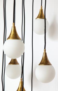 Stilnovo Stilnovo cascading chandelier with twelve opaline glass ball lights - 1023187