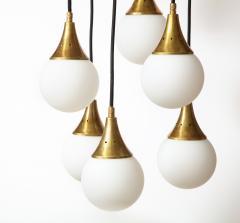 Stilnovo Stilnovo cascading chandelier with twelve opaline glass ball lights - 1023195