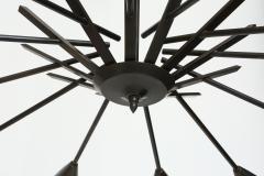 Stilnovo Stilnovo style brass chandelier - 765984