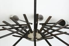 Stilnovo Stilnovo style brass chandelier - 765987