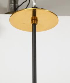 Stilnovo Vintage Mid Century Black and Brass Stilnovo Ceiling Light - 2057762