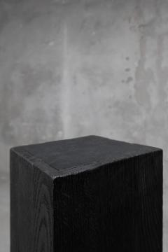 Studio Arno Declercq Arno Declercq Black Iroko Wood and Burned Steel Cross Stool or Side Table - 1068952
