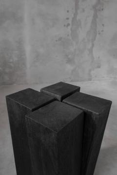 Studio Arno Declercq Arno Declercq Iroko Wood Four Legs Side Table or Stool - 1068916
