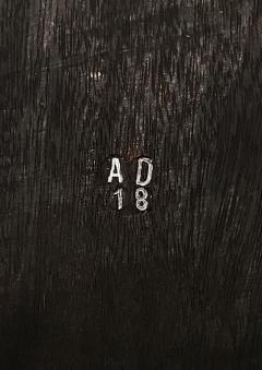 Studio Arno Declercq Iroko Wood Burned Steel Unique Signed Table Arno Declercq - 1068908