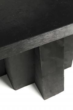 Studio Arno Declercq Iroko Wood Burned Steel Unique Signed Table Arno Declercq - 1068909