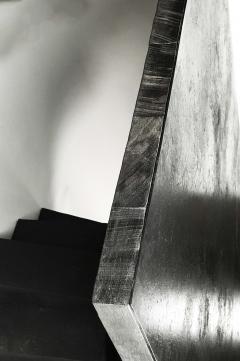 Studio Arno Declercq Iroko Wood Burned Steel Unique Signed Table Arno Declercq - 1068912