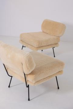 Studio BBPR BBPR Pair of armchairs Elettra for Arflex in Italian sheep hair - 1984778