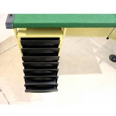 Studio BBPR BBPR for Olivetti 1960 Green Modernist Desk with Black Accents and Side Bureau - 1446063