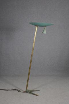 Studio BBPR Floor Lamp Midcentury Attributed to BBPR Studio in Brass and Iron 1940s - 1210164