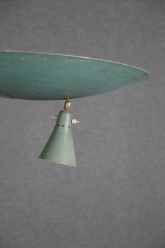 Studio BBPR Floor Lamp Midcentury Attributed to BBPR Studio in Brass and Iron 1940s - 1210167