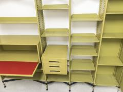 Studio BBPR Spazio Shelving System with Lockers and Drawers for Olivetti 1960s - 896272